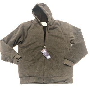 ❤️ Big Ball Sports Gray Sherpa hoodie new M